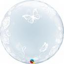 Balon Deco Bubble Fluturi si Trandafiri - 24''/61cm, Qualatex 29718