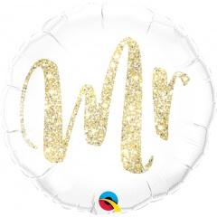 Balon Folie 45 cm Glitter - Mr, Qualatex 57313