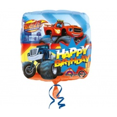 Balon Folie 45 cm Blaze Happy Birthday, Amscan 32391