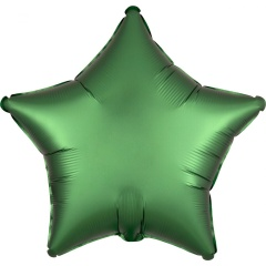 Balon folie 45 cm stea Satin Luxe Emerald, Amscan 38588