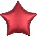 Balon folie 45 cm stea Satin Luxe Sangria, Amscan 38585