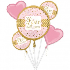 Buchet Baloane Love - Always and Forever, Amscan 34456, set 5 bucati