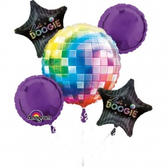 Buchet Baloane Disco, Amscan 27452, set 5 bucati