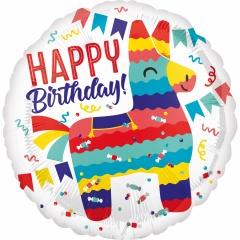 Balon Folie 45 cm, Happy Birthday - Pinata, Amscan 37985