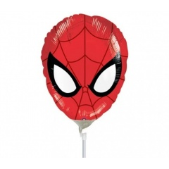 Balon mini figurina Ultimate Spider-man, umflat + bat si rozeta, Amscan 26331