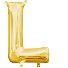 Balon Folie Litera L Auriu - 41 cm, Amscan 33035