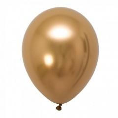 Baloane latex 33 cm Gold - Shiny (Chrome), Gemar 120.88, set 10 buc