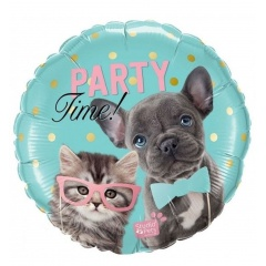 Balon Folie 45 cm Party Time, Qualatex 57614