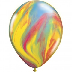 Balon Latex SuperAgate 11 inch (28 cm) Traditional, Qualatex 39922