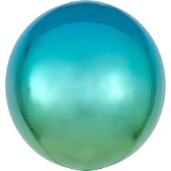 Balon folie Ombre Orbz Blue & Green - 38 x 40 cm, 39849