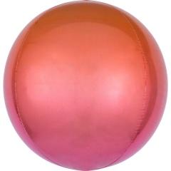 Balon folie Ombre Orbz Red & Orange - 38 x 40 cm, 39847