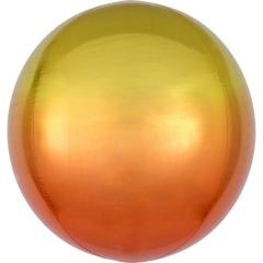 Balon folie Ombre Orbz Yellow & Orange - 38 x 40 cm, 39848
