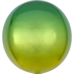 Balon folie Ombre Orbz Yellow & Green - 38 x 40 cm, 39846