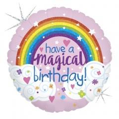 Balon Folie 45 cm Have a Magical Birthday, Holografic, Radar 36698GH