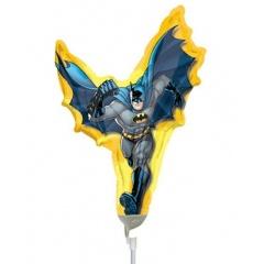 Balon Mini Figurina Batman, 23 cm, umflat + bat si rozeta, 17754