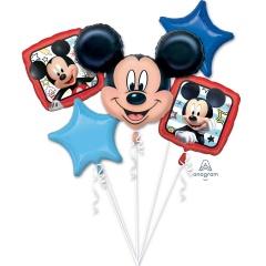 Buchet Baloane Mickey Mouse, Amscan 36226, set 5 bucati