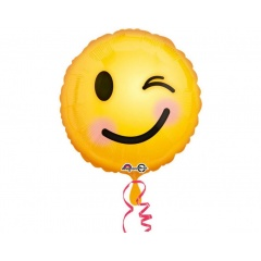 Balon folie 45 cm Emoticon Smiley, 33565