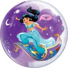 "Balon Bubble 22""/56 cm, Princess Jasmine, Qualatex 87533"