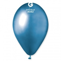 Baloane latex 33 cm Blue - Shiny (Chrome), Gemar 120.92, set 10 buc