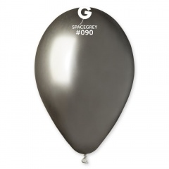 Baloane latex 33 cm Space Grey - Shiny (Chrome), Gemar 120.90, set 10 buc