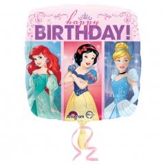 Balon folie 45 cm Happy Birthday Disney Princess, Radar 33807
