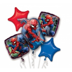Buchet Baloane Spiderman, Radar 34667, Set 5 buc