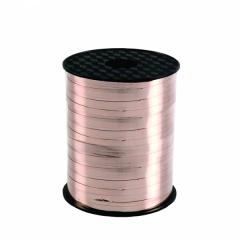Rafie metalizata rose gold pentru legat baloane latex sau folie - 230 m x 5 mm, Amscan CR1100, 1 rola