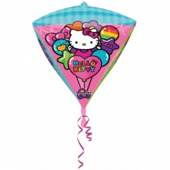 Balon Folie Diamondz Hello Kitty - 38 x 45 cm, Amscan 28457