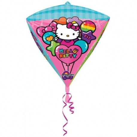 Balon Folie Diamondz Hello Kitty - 38 x 45 cm, Amscan 28457